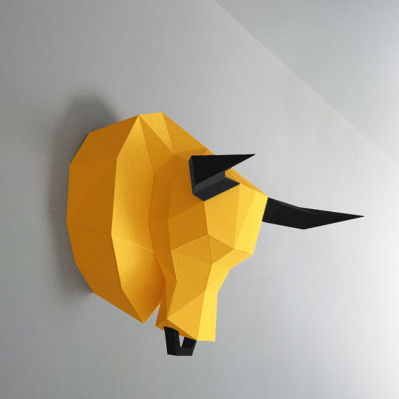 Touro amarelo e preto