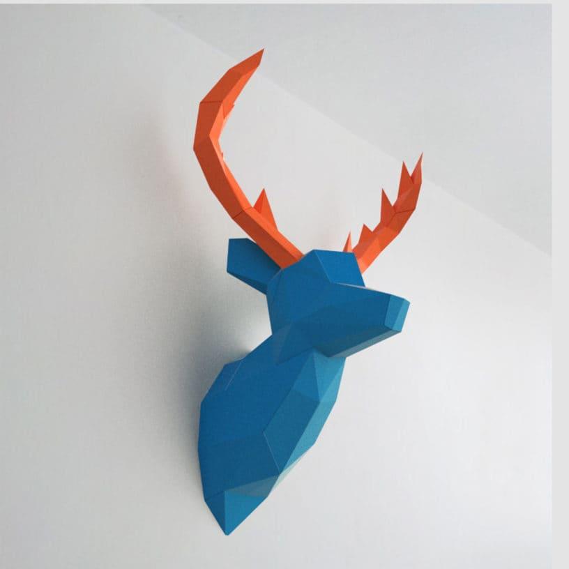 cervo azul laranja