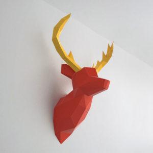 cervo vermelho amarelo