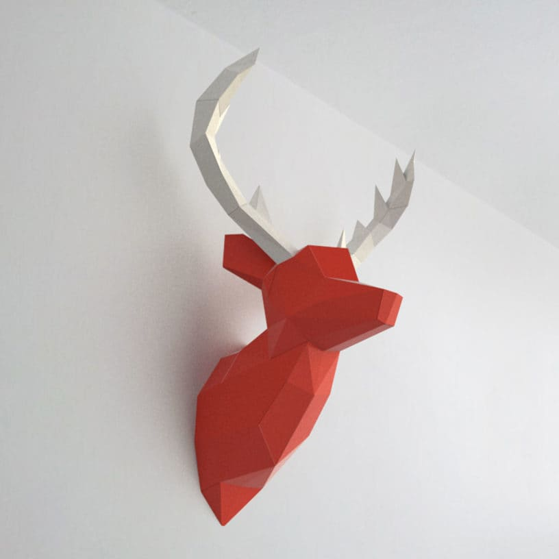 cervo vermelho branco