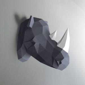 Rinoceronte cinza e branco