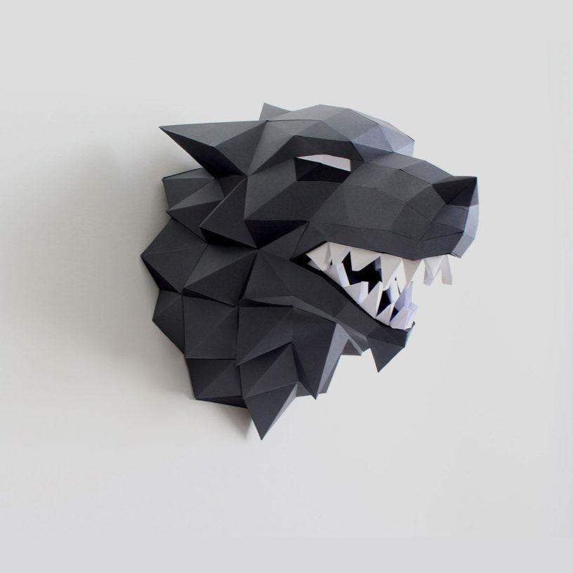 lobo cinza branco
