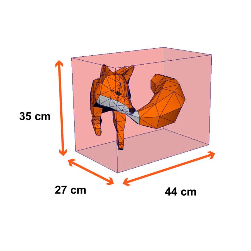 tamanho raposa