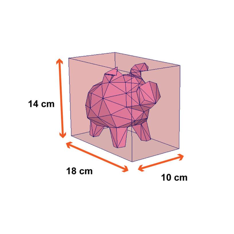 tamanho porquinho
