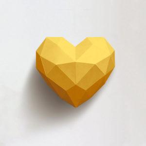 Coração amarelo