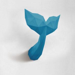 Calda de sereia azul