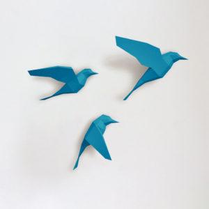 Passarinhos azuis