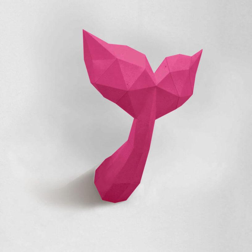Calda de sereia rosa