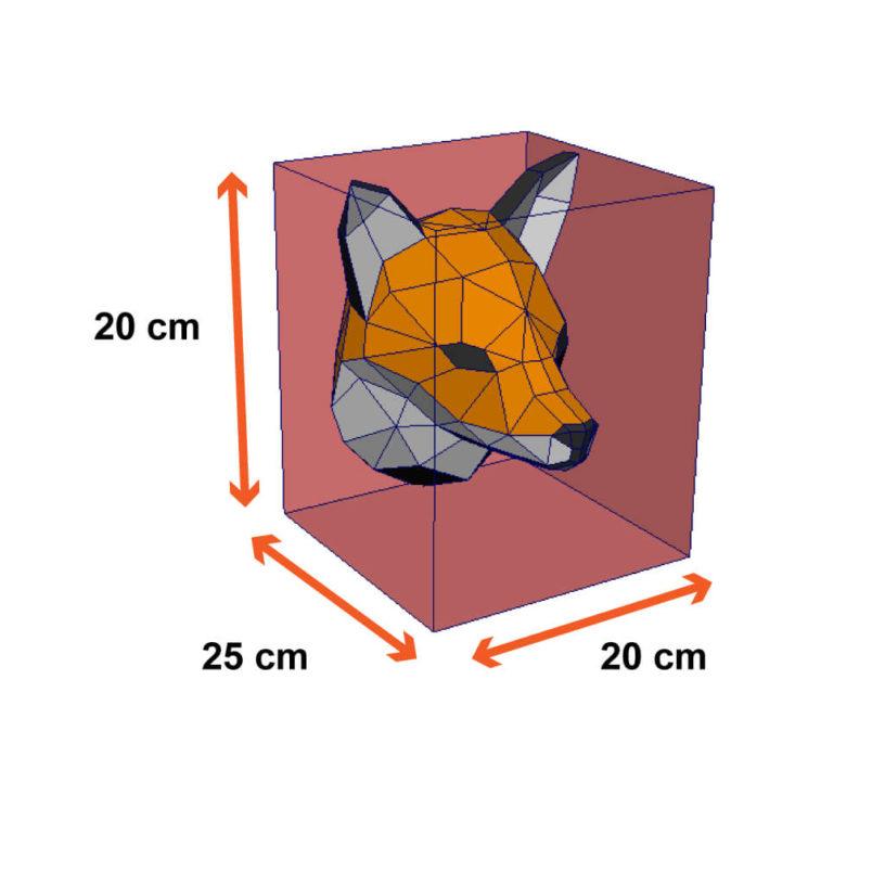 tamanho da cabeça da raposa