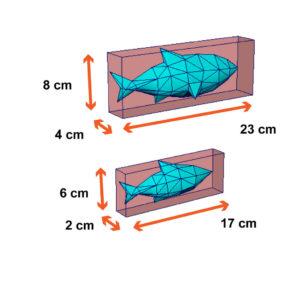 tamanho dos peixes