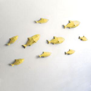 Peixes amarelo claro