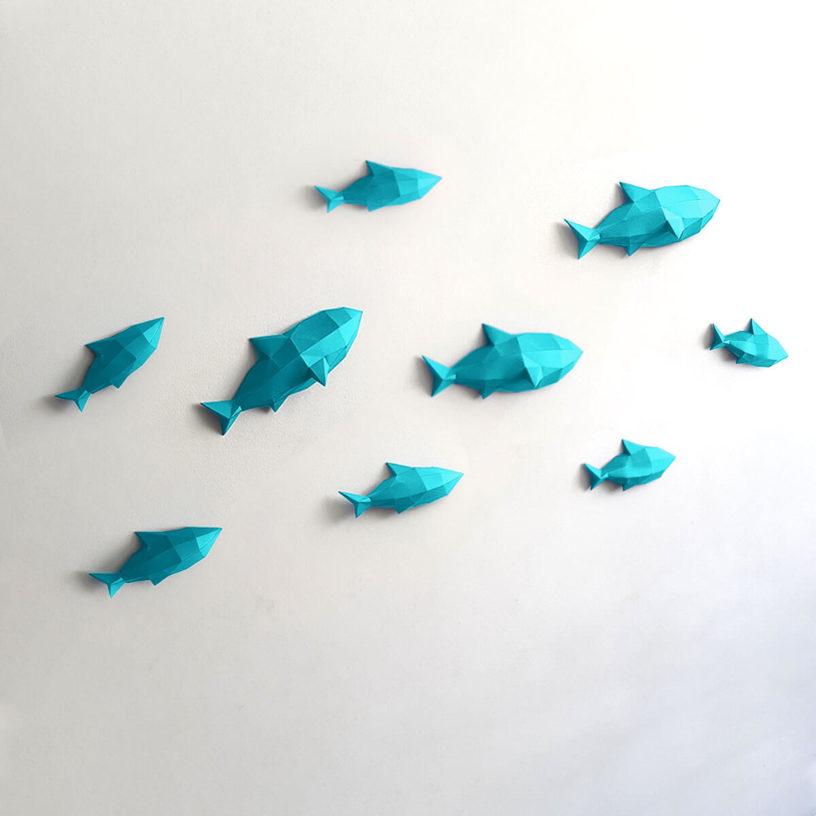 Peixes azul turquesa