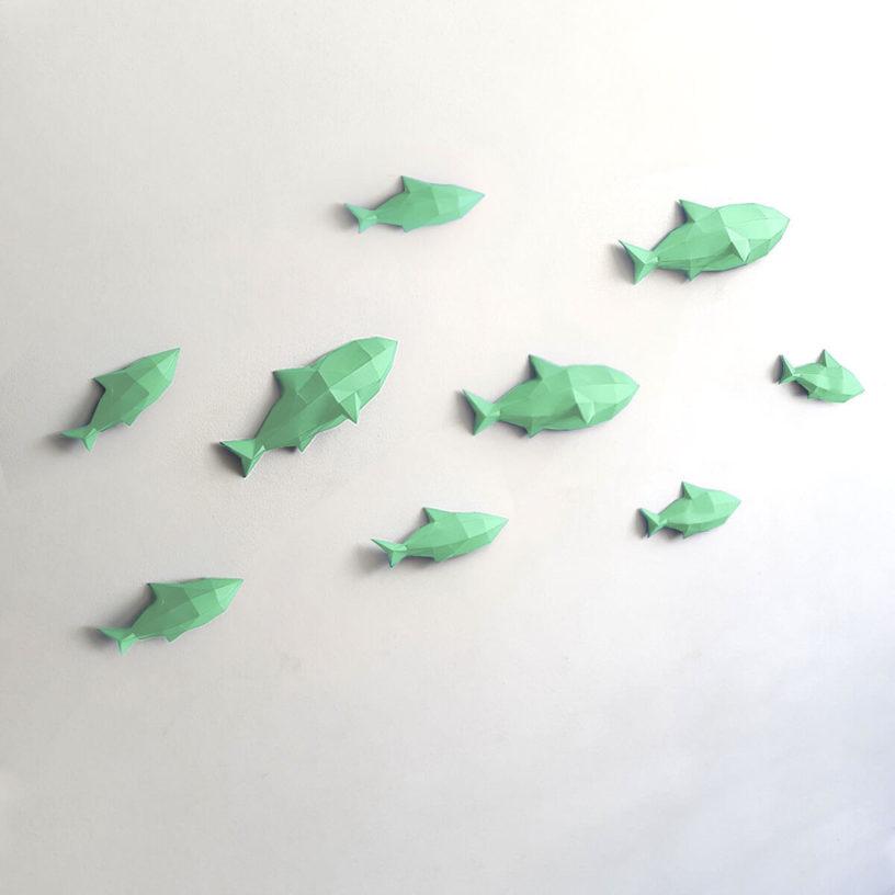 Peixes verde claro