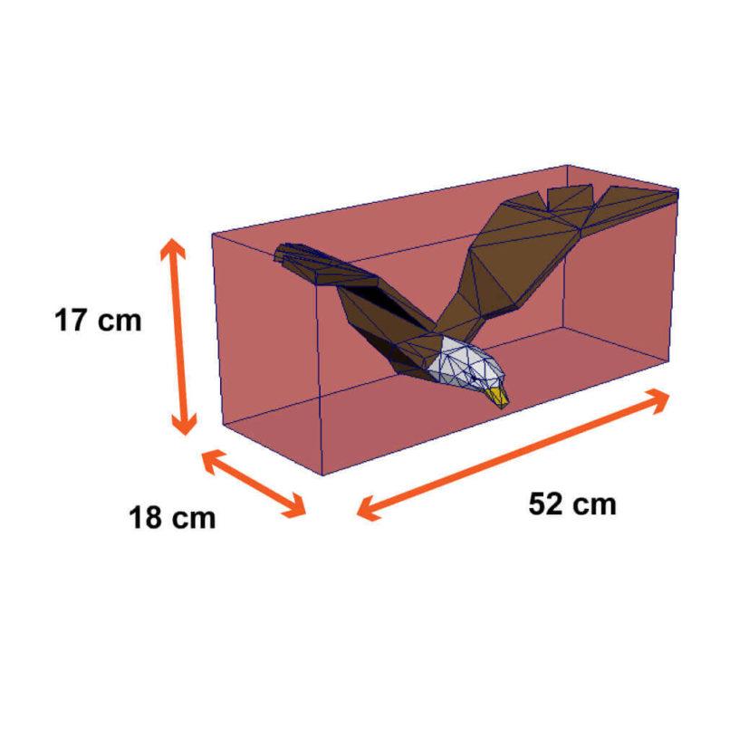 tamanho da aguia