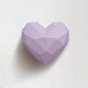 Coração lilás