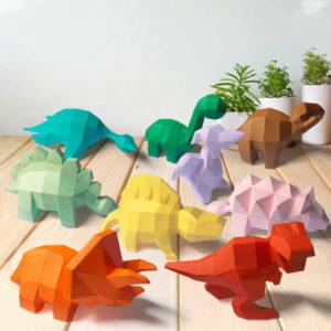 Todos mini dinossauros juntos