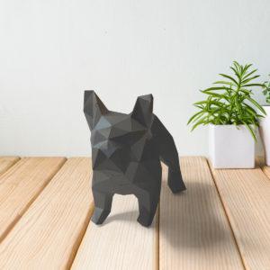 Cachorro bulldog cinza