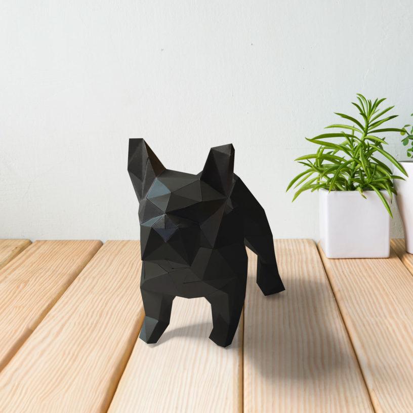 Cachorro bulldog preto