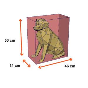 tamanho do cachorro labrador